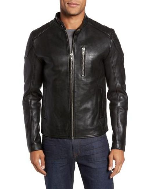 Lyst Lamarque Leather Moto Jacket In Black For Men