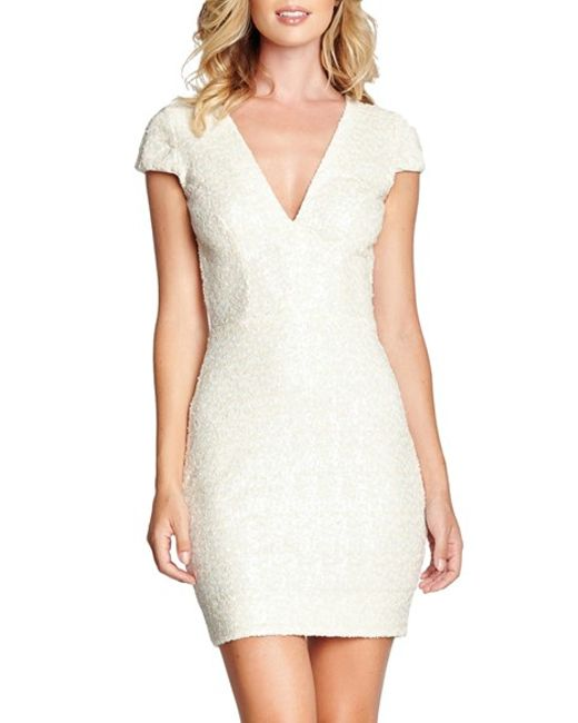 Dress the Population | White Zoe Sequin Minidress | Lyst