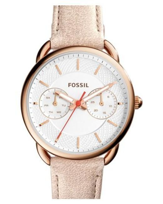 Fossil | White 'tailor' Multifunction Leather Strap Watch | Lyst