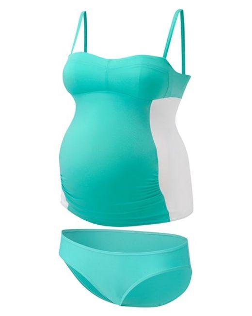 Amoralia | Blue Maternity Tankini Swimsuit | Lyst