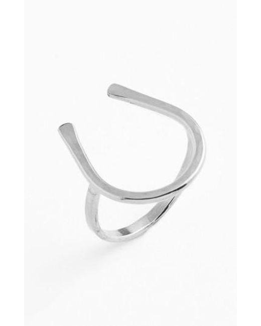 Nashelle   Metallic Ija Horseshoe Ring   Lyst