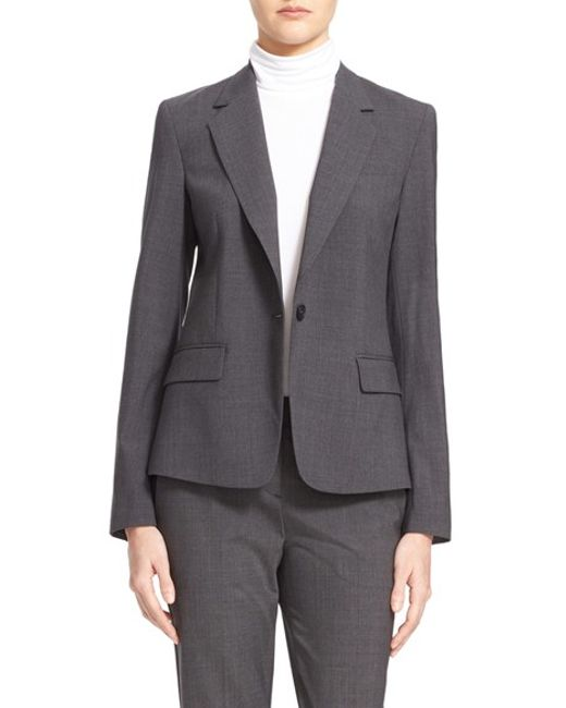 Theory | Gray 'gabe' Stretch Wool Blazer | Lyst