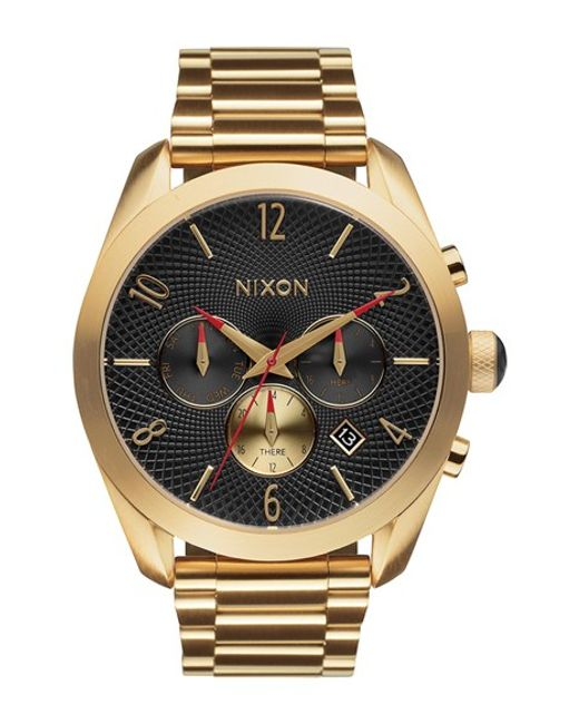 Nixon | Metallic 'bullet' Guilloche Chronograph Bracelet Watch | Lyst