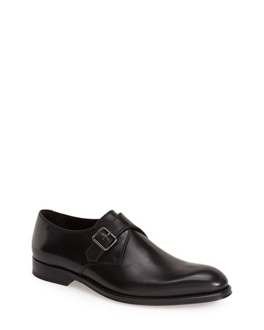Monte Rosso | Black Paradiso Monk Strap Shoe for Men | Lyst