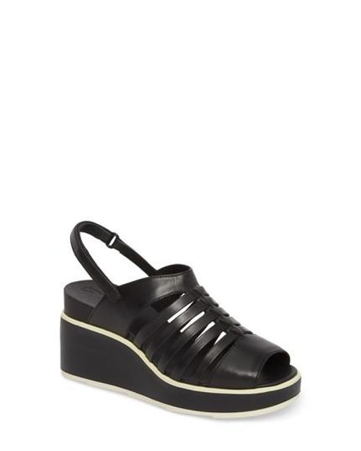 Camper - Black Tropik Strappy Wedge Sandal - Lyst