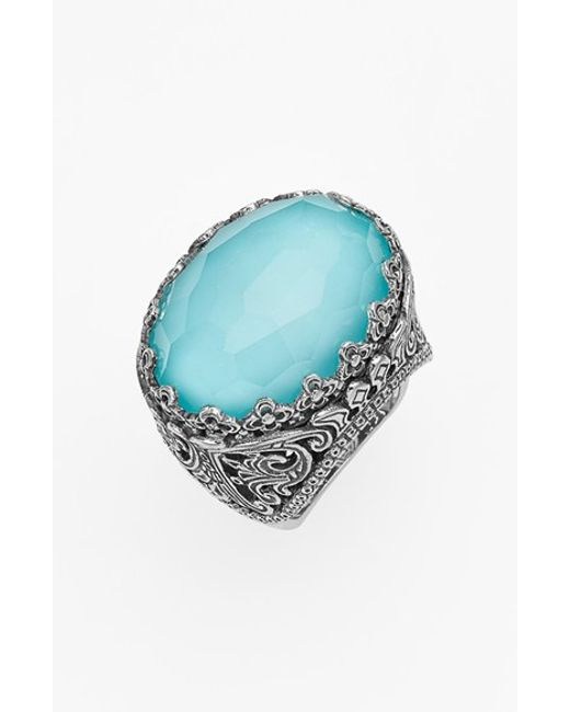 Konstantino | Blue 'aegean' Oval Stone Ring | Lyst