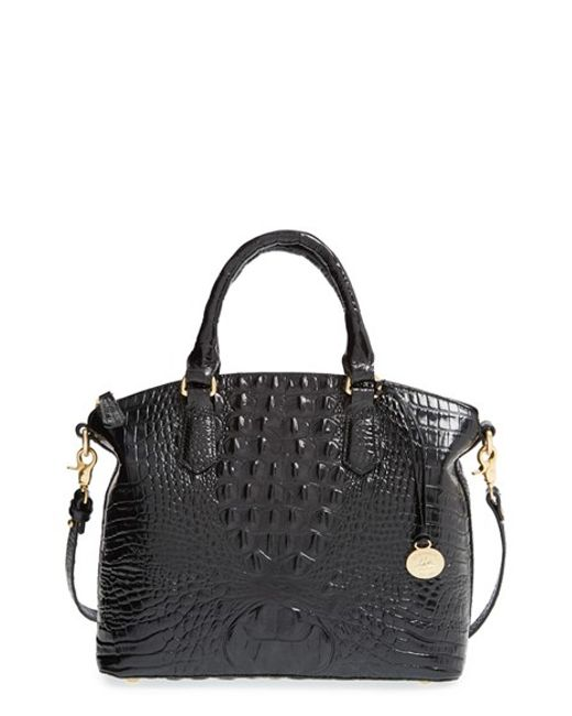 Brahmin | Black 'medium Duxbury' Croc Embossed Leather Satchel | Lyst
