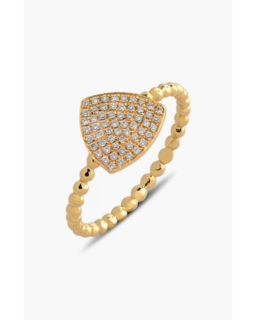 Bony Levy | Metallic 'aurora' Diamond Pave Triangle Ring (limited Edition) (nordstrom Exclusive) | Lyst