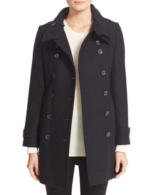Burberry Brit | Black Daylesmoore Wool-Blend Trench Coat | Lyst