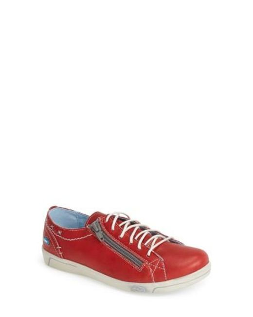 Cloud   Red 'aika' Leather Sneaker   Lyst