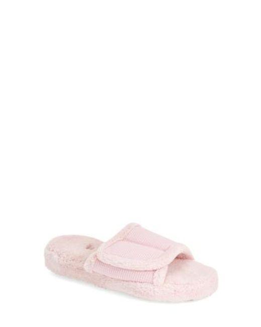 Acorn | Pink 'waffle Spa Slide' Slipper | Lyst