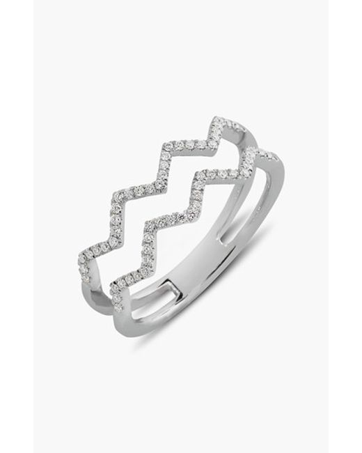 Bony Levy | Metallic 'prism' 2-row Diamond Ring (limited Edition) (nordstrom Exclusive) | Lyst