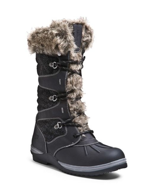 Blondo | Black 'sasha' Waterproof Snow Boot | Lyst