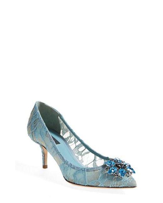 Dolce & Gabbana | Blue Pointy Toe Pump | Lyst