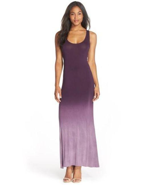 Fraiche By J | Purple Racerback Maxi Dress | Lyst