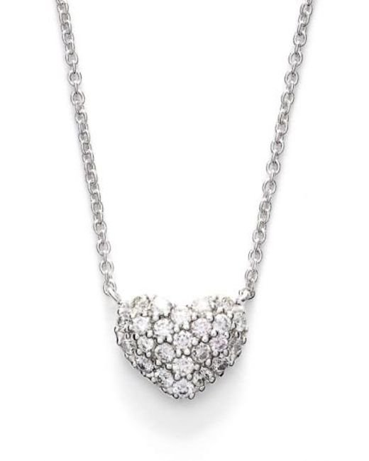 Bony Levy   Metallic Diamond Pave Heart Pendant Necklace (limited Edition) (nordstrom Exclusive)   Lyst
