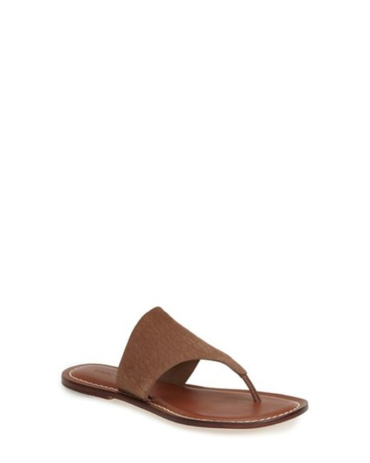 Bernardo | Brown Monica Thong Sandal | Lyst