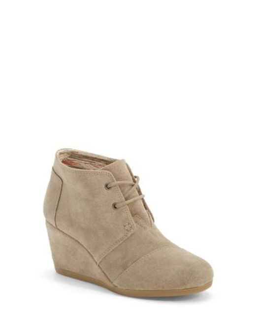 TOMS | Natural 'Desert' Wedge Bootie | Lyst