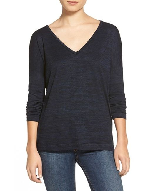 Rag & Bone | Blue Long Sleeve Tee | Lyst