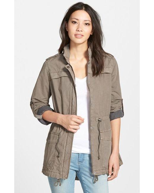 Levi's | Gray Levi's Lightweight Cotton Hooded Utility Jacket | Lyst