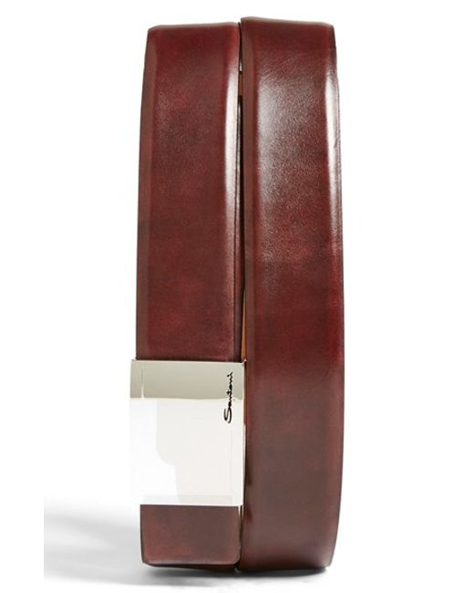 Santoni | Purple Leather Belt for Men | Lyst