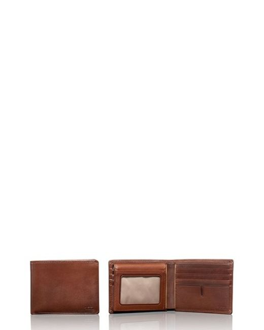 Tumi | Brown Chambers Global Leather Passcase Wallet for Men | Lyst