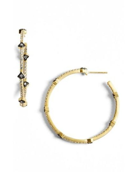 Freida Rothman | Metallic 'metropolitan' Inside Out Hoop Earrings | Lyst