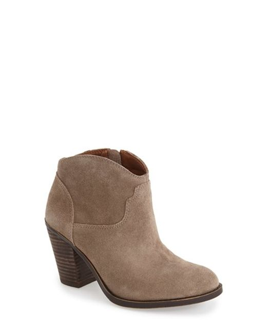 Lucky Brand | Gray Eller Suede Ankle Boots | Lyst