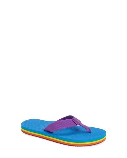 Teva | Purple 'deckers' Flip Flop | Lyst