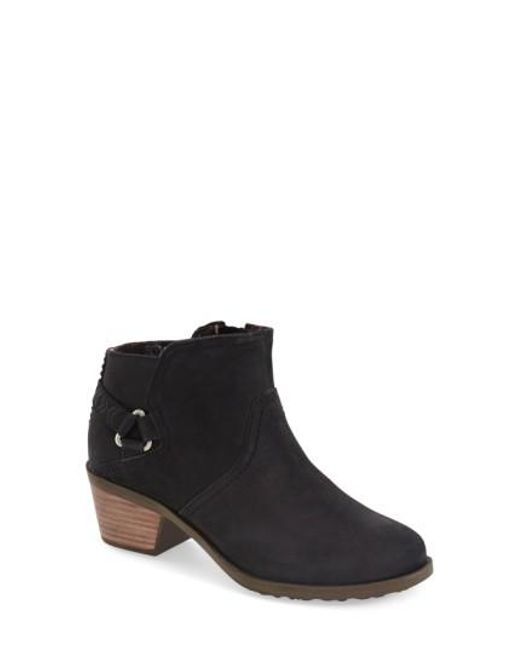Teva | Black Foxy Leather Ankle Boots | Lyst