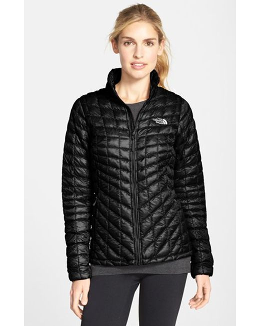 The North Face | Black 'thermoball' Primaloft Front Zip Jacket | Lyst