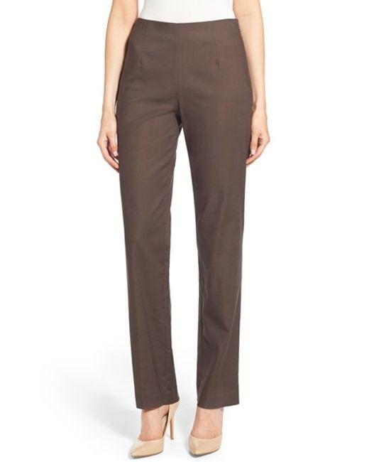 NIC+ZOE   Brown Perfect Pants   Lyst
