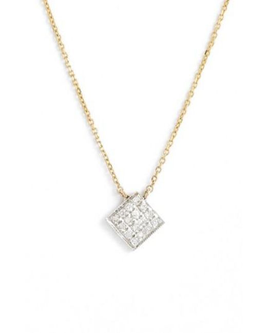 Dana Rebecca   Yellow 'lisa Michelle' Diamond Pave Square Pendant Necklace (nordstrom Exclusive)   Lyst