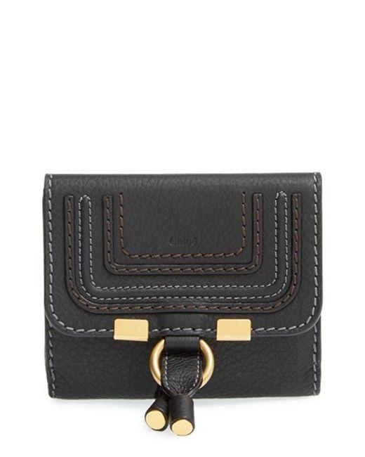 Chloé   Black 'marcie' French Wallet   Lyst