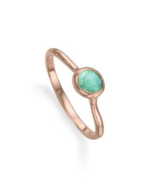 Rose Gold Siren Medium Stacking Ring Amazonite Monica Vinader t9c4tYzNUE
