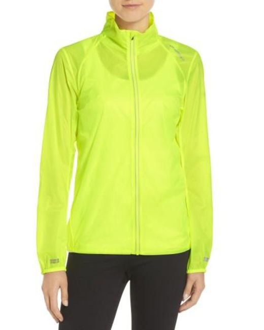 Brooks | Yellow Water Resistant Ripstop Jacket | Lyst