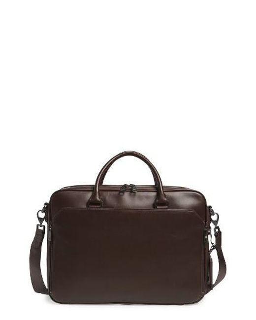 Vince Camuto | Blue Turin Leather Briefcase for Men | Lyst