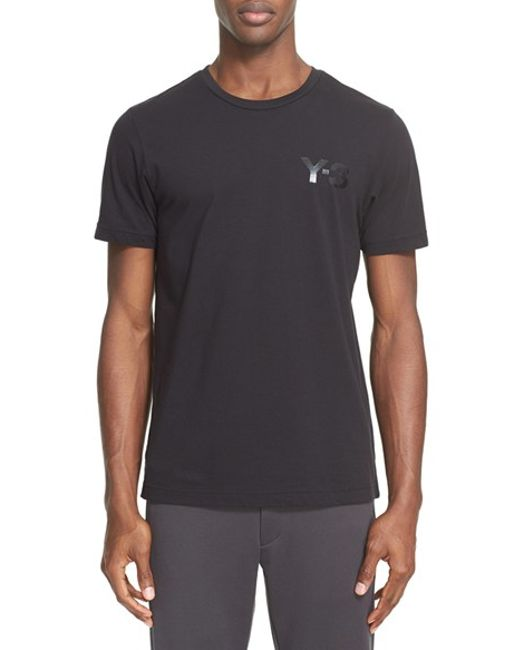 Y-3 | Black 'classic' Logo Print T-shirt for Men | Lyst