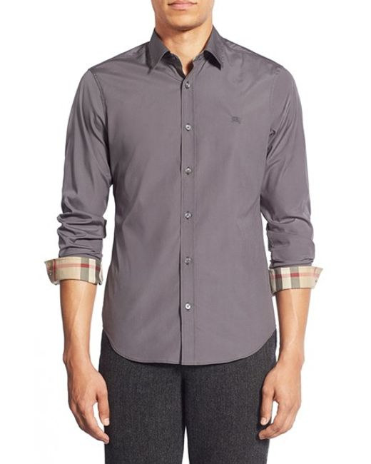 Burberry | Gray Cambridge Aboyd Sport Shirt for Men | Lyst