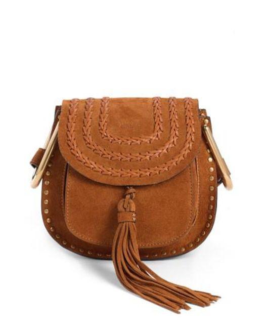 Chloé | Brown 'mini Hudson' Crossbody Bag | Lyst