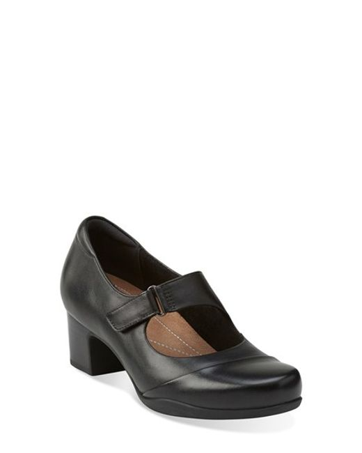Clarks | Black Clarks 'rosalyn Wren' Mary Jane Pump | Lyst