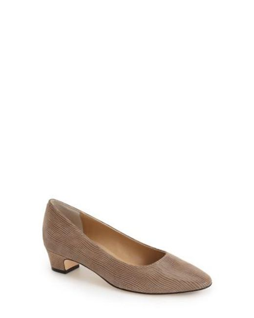 Vaneli | Brown 'Astyr' Almond Toe Pump | Lyst
