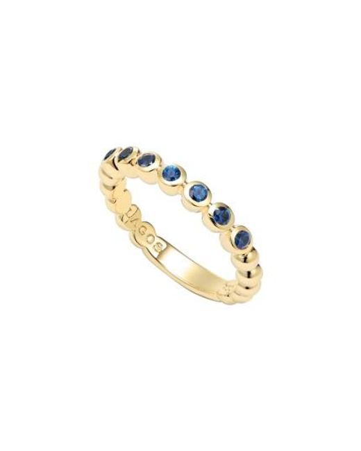 Lagos | Metallic Covet Stone Caviar Stack Ring | Lyst