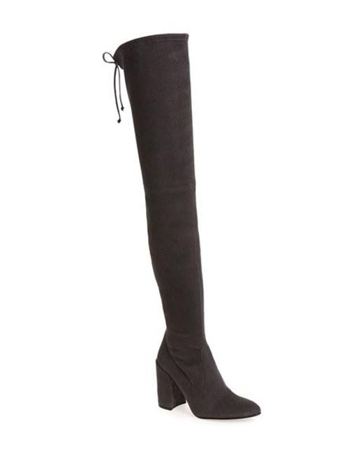 Stuart Weitzman | Gray All Legs Over-The-Knee Suede Boots | Lyst