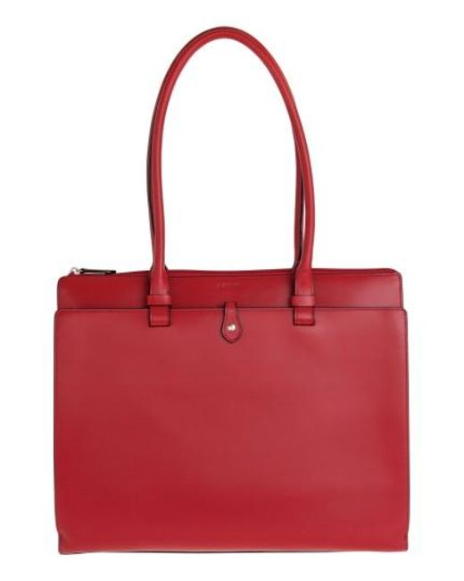 Lodis | Red 'audrey Collection - Jessica' Leather Tote | Lyst