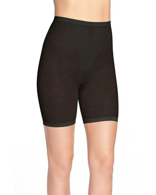 DKNY | Black 'sheers' Thigh Slimmer Shorts | Lyst
