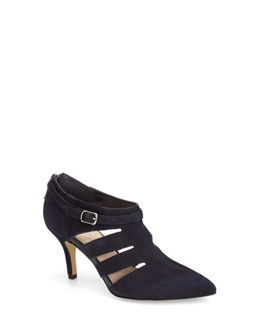 Bella Vita | Blue 'dylan' Cutout Pointy Toe Bootie | Lyst