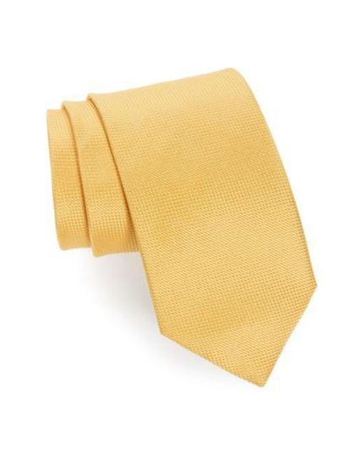 John W. Nordstrom | Yellow John W. Nordstrom 'ryder' Silk Tie for Men | Lyst