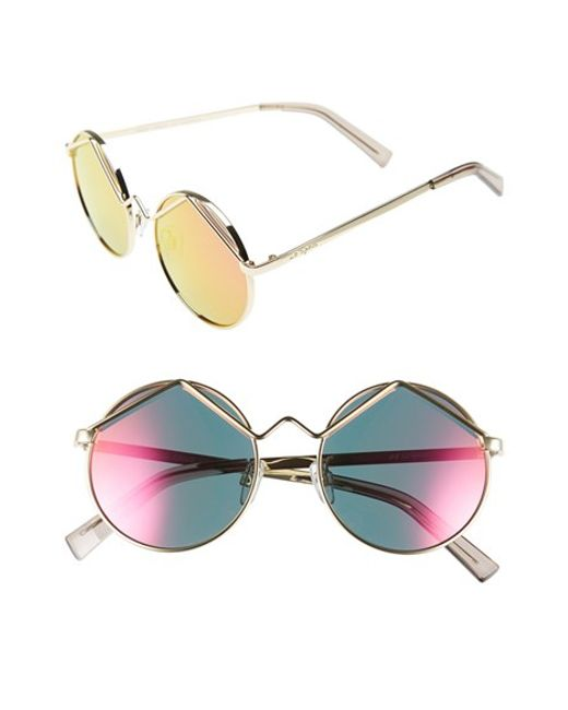 Le Specs | Metallic 'wild Child' 52mm Sunglasses | Lyst