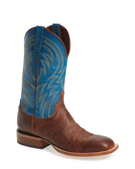 Lucchese   Blue 'alan' Western Boot for Men   Lyst
